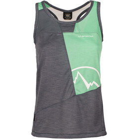 La Sportiva Earn Sleeveless Shirt Women grey/turquoise